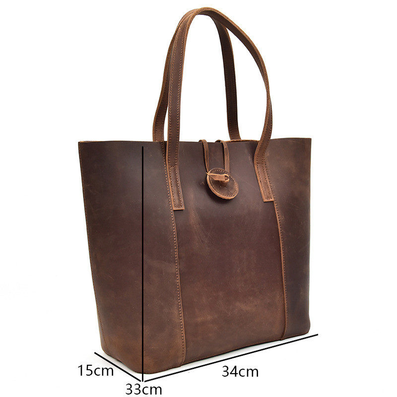 New women genuine leather handbag with removable clutch bag Big crazy horse  leather tote bags female fashion combination bag 6a0520e47c85a